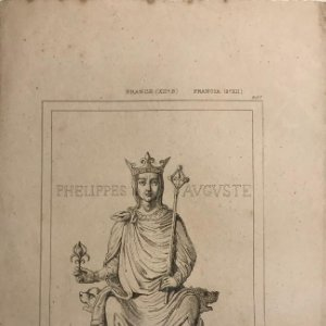 Francia. (s.XII) Felipe Augusto 13,8x21,5 cm