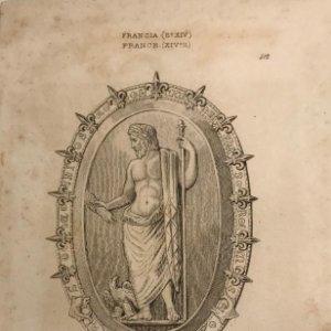 Francia. (s.XIV) Piedra antigua con guarnición del tiempo de Carlos V 12,2x19,7 cm