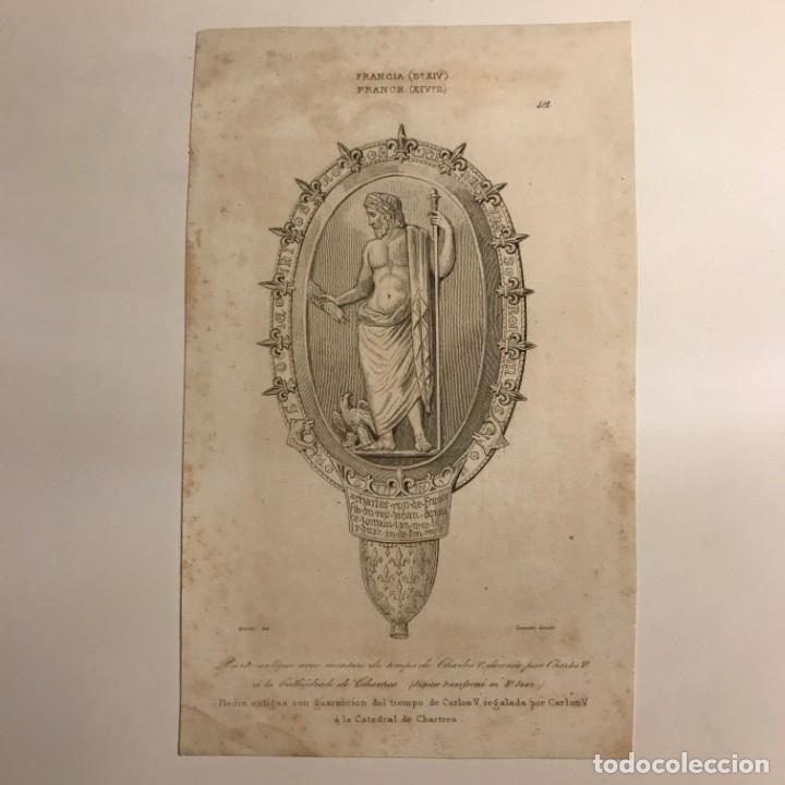 Arte: Francia. (s.XIV) Piedra antigua con guarnición del tiempo de Carlos V 12,2x19,7 cm - Foto 2 - 152318342