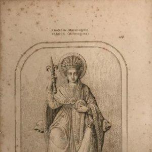 Francia (Merovingios). Pepino 13,7x21,6 cm