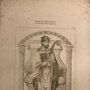 Francia (Merovingios). San Avito patron de Velvic 13,7x22,2 cm