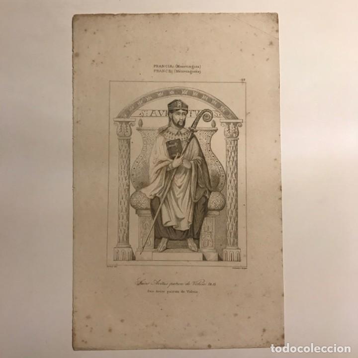 Arte: Francia (Merovingios). San Avito patron de Velvic 13,7x22,2 cm - Foto 2 - 152319058