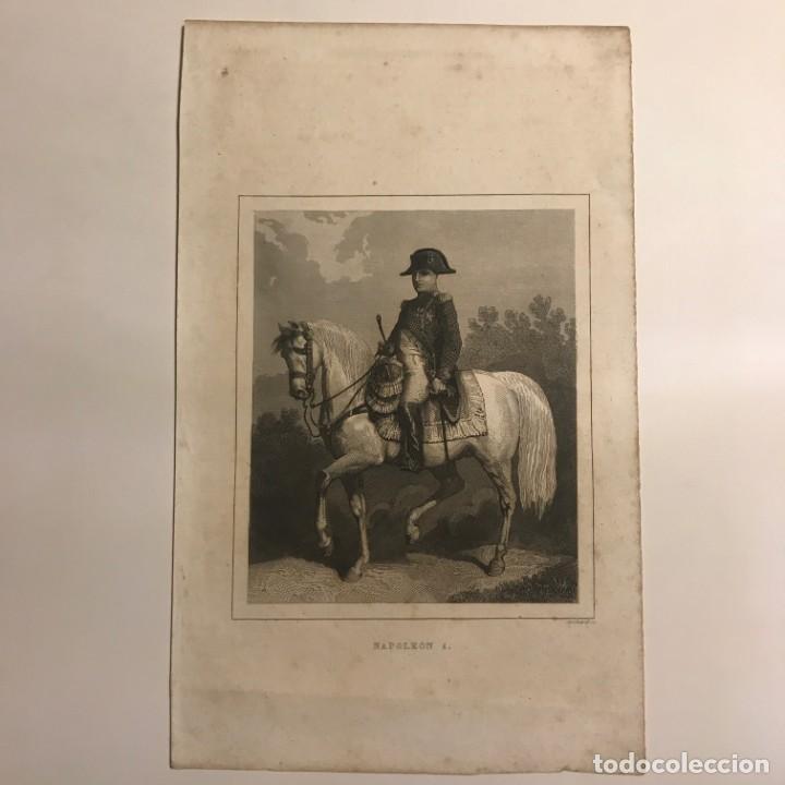 Arte: Francia. Napoleón 1. 15,2x24,7 cm - Foto 2 - 152319238