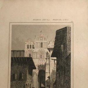 Francia (s.XI). Gradas de la Iglesia de Nª Sª en el Puy 12,9x20,6 cm