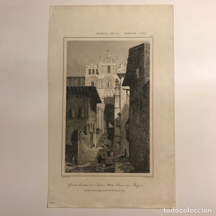Arte: Francia (s.XI). Gradas de la Iglesia de Nª Sª en el Puy 12,9x20,6 cm - Foto 2 - 152319734