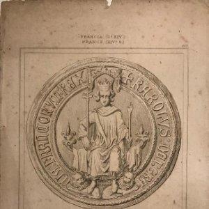 Francia. Sello de Carlos VI. 14,1x22,5 cm