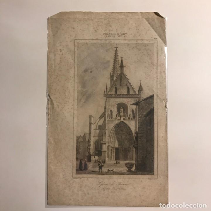 Arte: Francia (s.XIV). Iglesia en Thann 13,5x22 cm - Foto 2 - 152320642