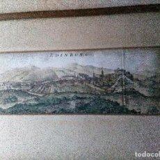Arte: EDINBURG GRABADO COLOREADO,ENMARCADO. Lote 152329806