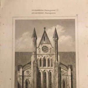 Inglaterra (Plantagenetes). Monasteio Beverley Yorkshire 12,8x20 cm