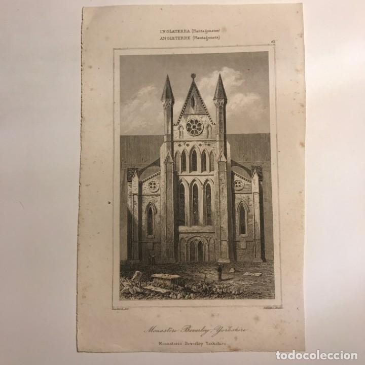 Arte: Inglaterra (Plantagenetes). Monasteio Beverley Yorkshire 12,8x20 cm - Foto 2 - 152332962