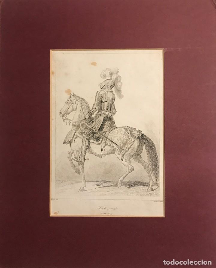 ESPAÑA. FERNANDO 22,5X27,9 CM (Arte - Grabados - Modernos siglo XIX)