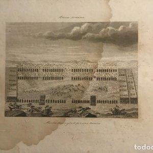 España. Milicia romana. Marcha de un ejército por una llanura 24,5x17,2 cm