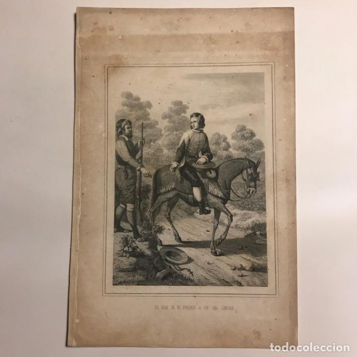 Arte: España. Gil Blas se ve forzado a dar una limosna 16,3x24,8 cm - Foto 2 - 152338654