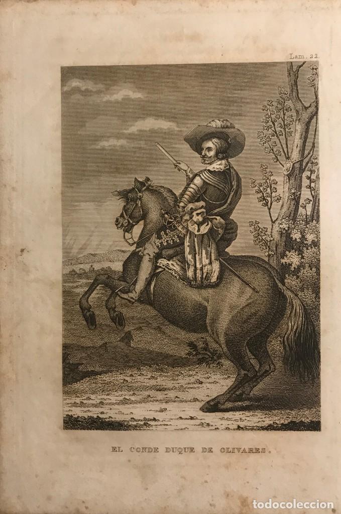 ESPAÑA. EL CONDE DUQUE DE OLIVARES 14,2X21 CM (Arte - Grabados - Modernos siglo XIX)