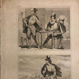 España. Trages de los señores jóvenenes. 2. Trage de un caballero. Trajes 14,1x22 cm