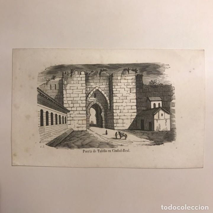 Arte: España. Puerta de Toledo en Ciudad Real 15,3x9,5 cm - Foto 2 - 152340666