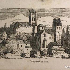 España. Vista general de Ávila 15,3x9,5 cm