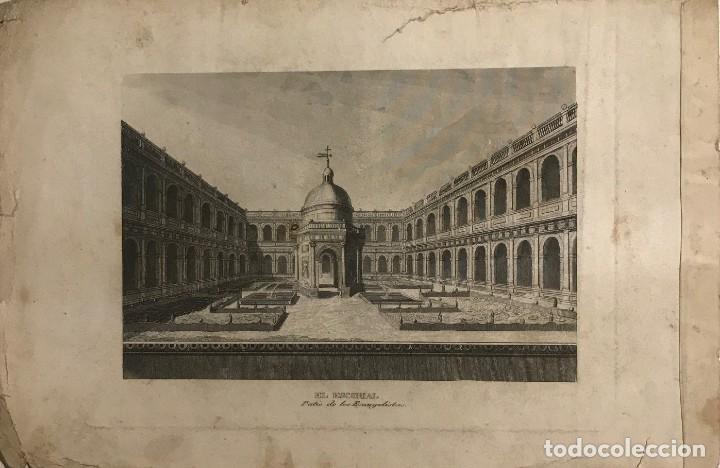 ESPAÑA. EL ESCORIAL 24,8X16,5 CM (Arte - Grabados - Modernos siglo XIX)