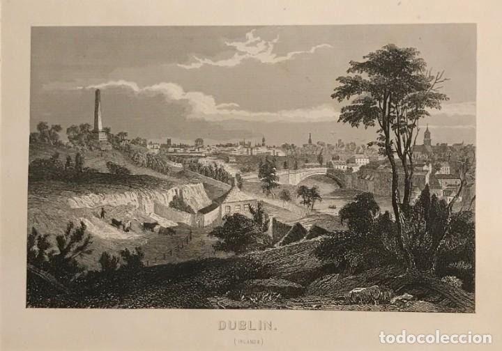 GRABADO ANTIGUO. DUBLIN. IRLANDA (Arte - Grabados - Modernos siglo XIX)