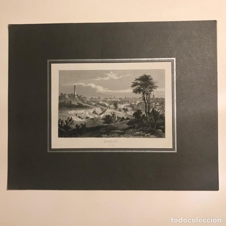 Arte: Grabado antiguo. Dublin. Irlanda - Foto 2 - 152344266