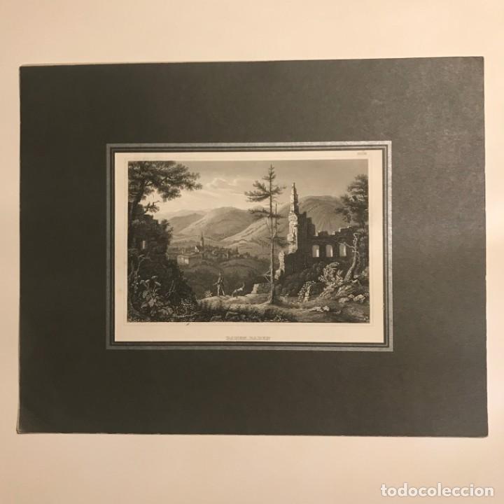 Arte: Alemania. Baden-Baden. Von der Burgruine aus Gesehen 24x30 cm - Foto 2 - 152345690