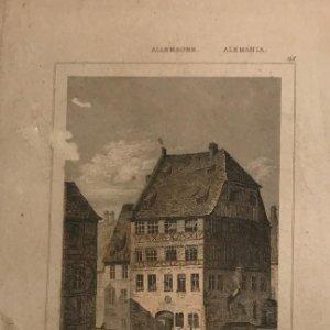 Alemania. Casa de Albrecht Durer en Nuremberg 12x20,5 cm