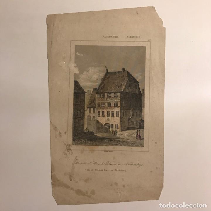 Arte: Alemania. Casa de Albrecht Durer en Nuremberg 12x20,5 cm - Foto 2 - 152346738