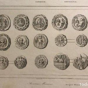 Alemania. Antiguas monedas 12,5x20 cm