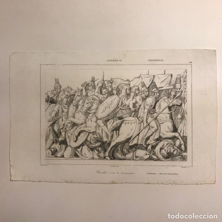 Arte: Alemania. Leones echados en el Danubio 13,5x20,7 cm - Foto 2 - 152347826