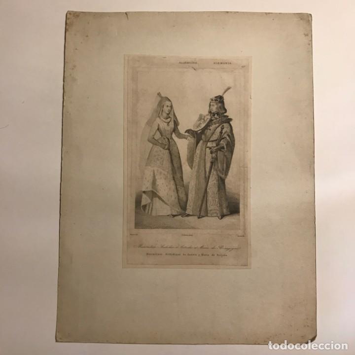 Arte: Alemania. Maximiliano Archiduque de Austria y María de Borgoña 22x29 cm - Foto 2 - 152348170