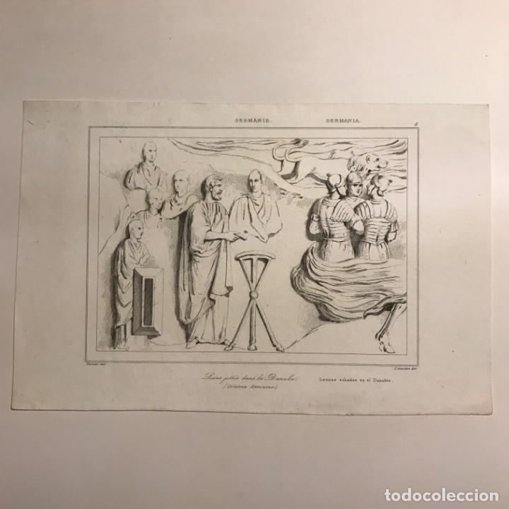 Arte: Alemania. Leones echados al Danubio 20,8x13,5 cm - Foto 2 - 152348350