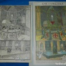Arte: (M) DIBUJO ORIGINAL DE E MARTINELL 1929 L'OU COM BALLA SURTIDOR ST JORDI SEU DE BARCELONA. Lote 152417530