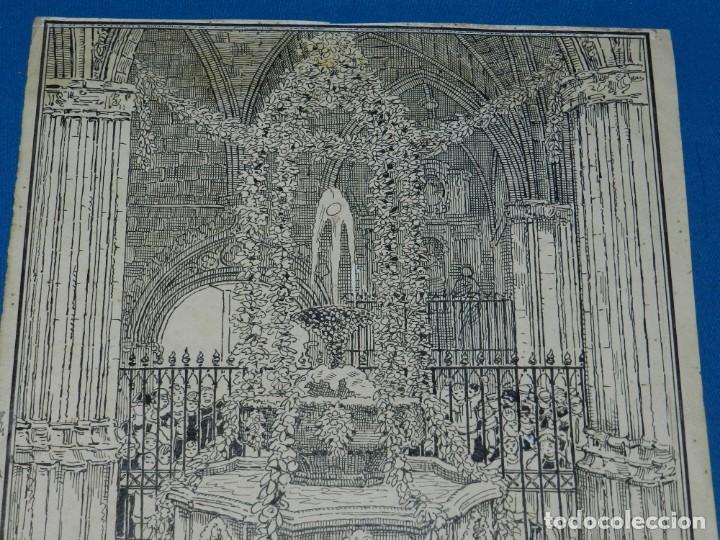 Arte: (M) DIBUJO ORIGINAL DE E MARTINELL 1929 LOU COM BALLA SURTIDOR ST JORDI SEU DE BARCELONA - Foto 3 - 152417530