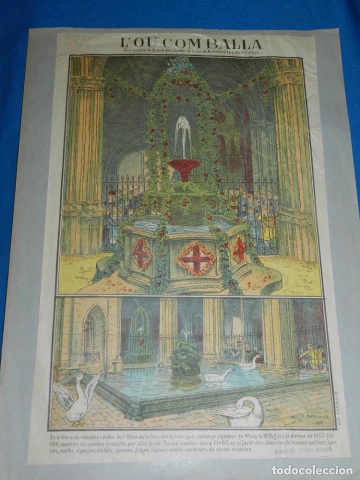 Arte: (M) DIBUJO ORIGINAL DE E MARTINELL 1929 LOU COM BALLA SURTIDOR ST JORDI SEU DE BARCELONA - Foto 7 - 152417530