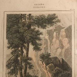 España. Toros de Guizando (Monumentos fenicios) 11,5x20,3 cm