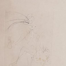 Arte: SALVADOR DALÍ DOMENECH, (1904-1989), GRABADO PUNTA SECA, TRES TINTAS, TIRADA 95, (MUY RARO), FIRMADO. Lote 152478058