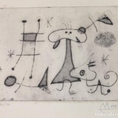 Arte: JOAN MIRÓ - GRABADO ORIGINAL FIRMADO A MANO - THE SUN FROM MURAL SCROLLS - 29 X 24 CM.. Lote 152529182