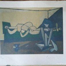 Arte: PABLO PICASSO GRABADO ORIGINAL FIRMADO A LAPIZ,NUMERADO Nº 8/100,RECLINING NUDE AND..., 29X20 CMS. Lote 152532426