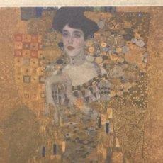 Arte: GUSTAV KLIMT - GRABADO ORIGINAL FIRMADO A MANO - LA DAMA DORADA - 1907 - 29 X 21 CM.. Lote 152534546