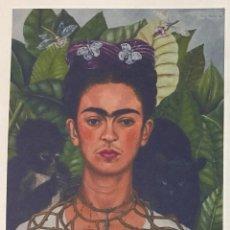 Arte: FRIDA KAHLO - AUTORRETRATO CON COLLAR DE ESPINAS - 1940 . Lote 152535150