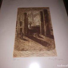 Arte: ESTUPENDO GRABADO P/E DEL PINTOR ANTONIO HERVAS AMEZCUA MIREN FOTOS . Lote 152544354