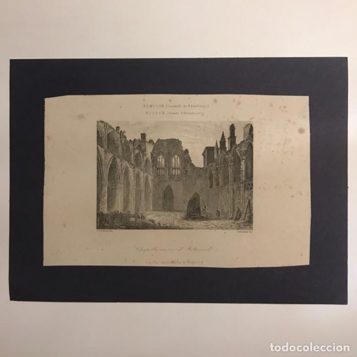 Arte: Escocia. (Condado de Edimburgo). Capilla arruinada de Holyrood 18x25 cm - Foto 2 - 152623070