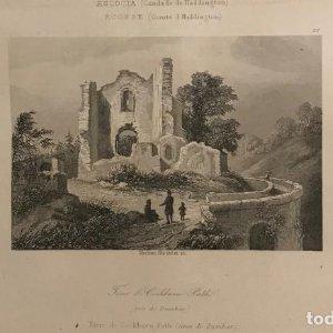 Escocia. (Condado de Haddington). Torre de Cochburn Path (cerca de Dumbar) 18x25 cm