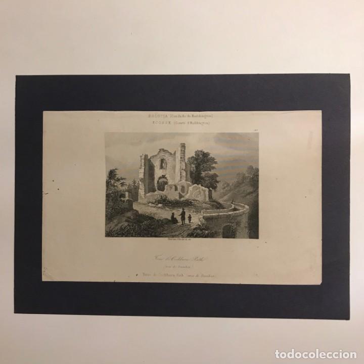 Arte: Escocia. (Condado de Haddington). Torre de Cochburn Path (cerca de Dumbar) 18x25 cm - Foto 2 - 152623886