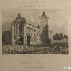 Escocia. (Condado de Perth). Catedral de Dublane (cerca de Dumbar) 18x25 cm