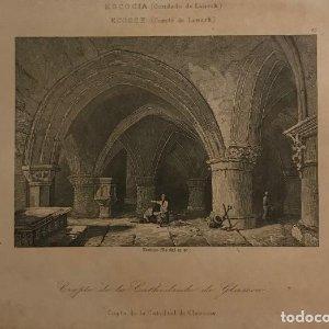 Escocia. (Condado de Lanerk). Cripta de la Catedral de Glascow 20,1x12,6 cm