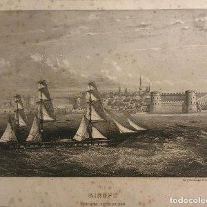Italia. Sinope. Fregata retribución 13,8x17,1 cm