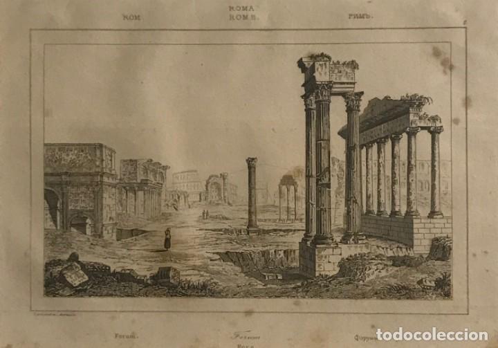 ITALIA. ROMA. FORO 24X30 CM (Arte - Grabados - Modernos siglo XIX)