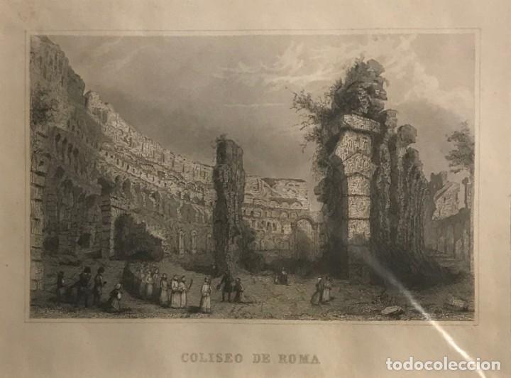 ITALIA. ROMA. COLISEO DE ROMA 24X30 CM (Arte - Grabados - Modernos siglo XIX)