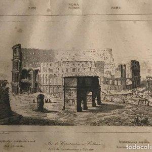 Italia. Roma. Área de Constantino y Coliseo 24x30 cm